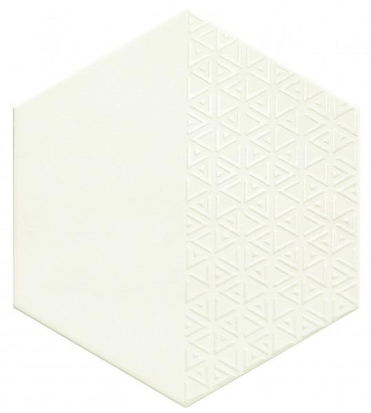 płytki heksagonalne białe