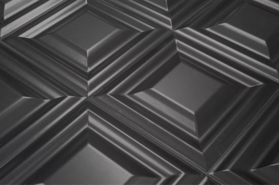 czarne płytki dekoracyjne pikowane 25x25