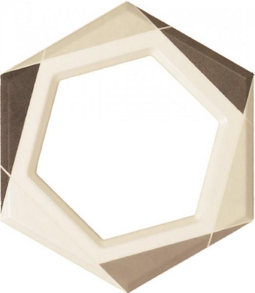 Fanal hexagon na ściane płytka drewnopodonma 25x22 łazienka w drewnie