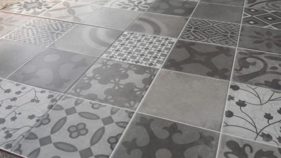 detale na płytkach patchwork szare Hidra ulico prissmacer