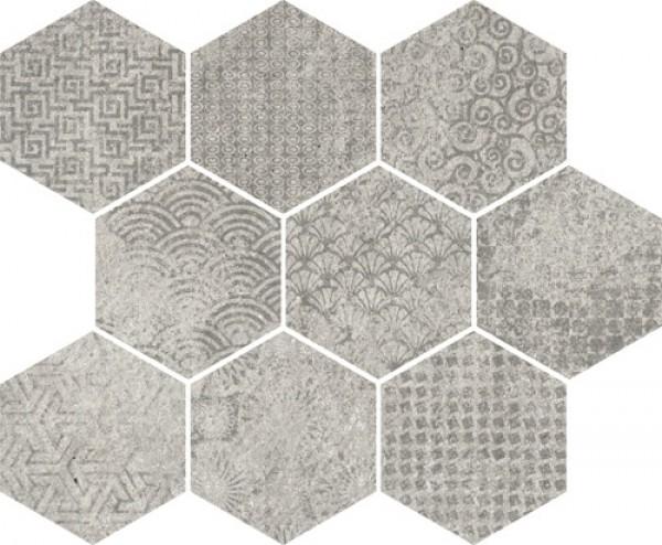 Vives hexagon na podłoge ściane 33x27 płytki surowy beton do lazienki kuchni salonu