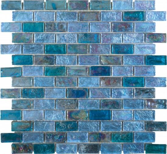 mozaika na ścianę odcienie niebieskiego mozaika na podłogę mozaika do łazienki kuchni mozaika do salonu 30x30 Dune mozaika szklana