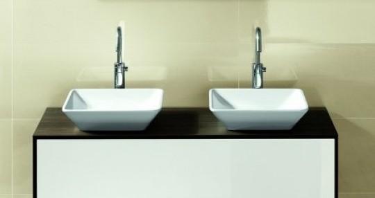 Hatria umywalka nablatowa biała umywalka umywalka kwadratowa cermika