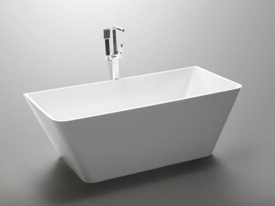 Massi biała wanna wolnostojąca prostokątna nowoczesna klasyczna łazienka akrylowa