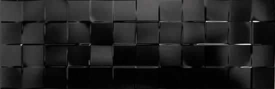 płytki dekoracyjne czarne 25x75 do łazienki dekoracje 3d