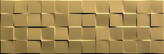 płytki dekoracyjne 25x75 złote Aparici Solid Gold Check