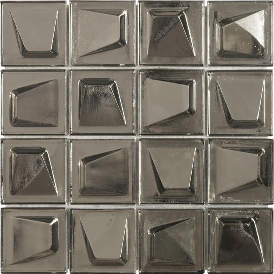 mozaika na ścianę mozaika do łazienki kuchni mozaika do salonu 24x24 Dune mozaika szklana mozaika nowoczesne wnętrze efekt trójwymiarowy nowoczesna łązineka salon kuchnia złota płytka