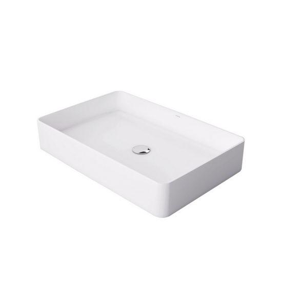 biała umywalka nablatowa prostokątna massi