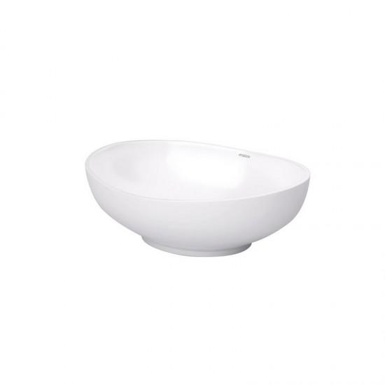 umywalka biała nablatowa owalna