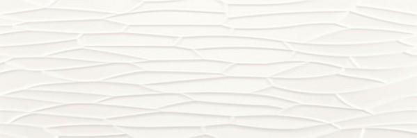 płytki falowane białe 40x120 View Neve Satin baldocer