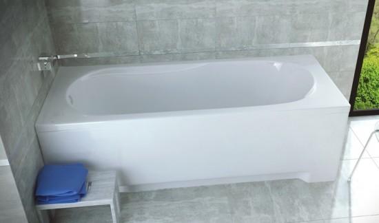 Besco wanna prostokątna biała wanna 150x75