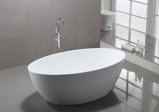 Massi biała owalna wanna wolnostojąca  nowoczesna klasyczna łazienka