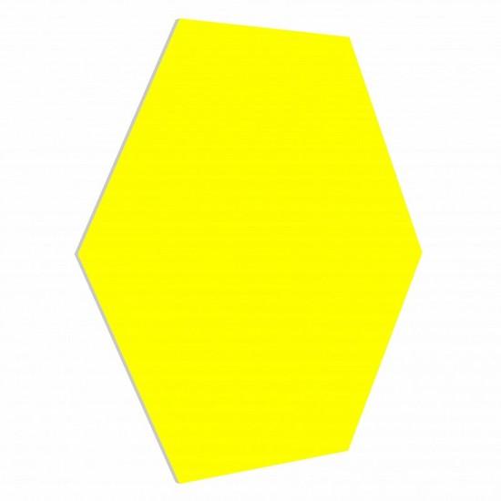 Panel ścienny zółty  3D